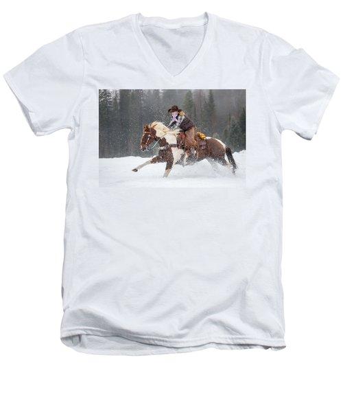 Four Legs Move Our Souls Men's V-Neck T-Shirt