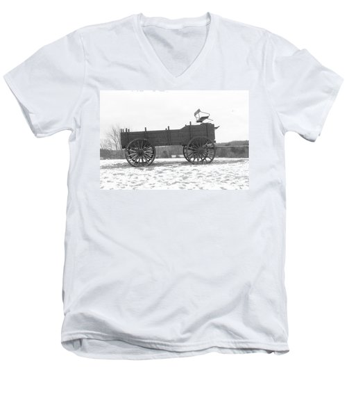Men's V-Neck T-Shirt featuring the digital art Four Wheel Drive by Barbara S Nickerson