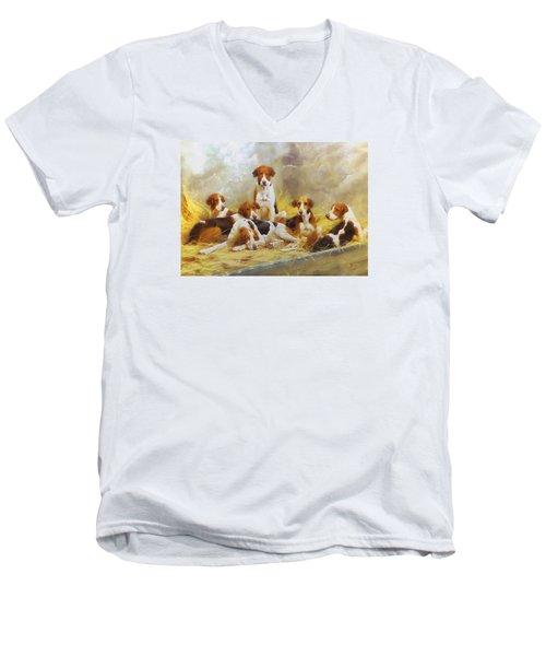 Fox Hounds Men's V-Neck T-Shirt