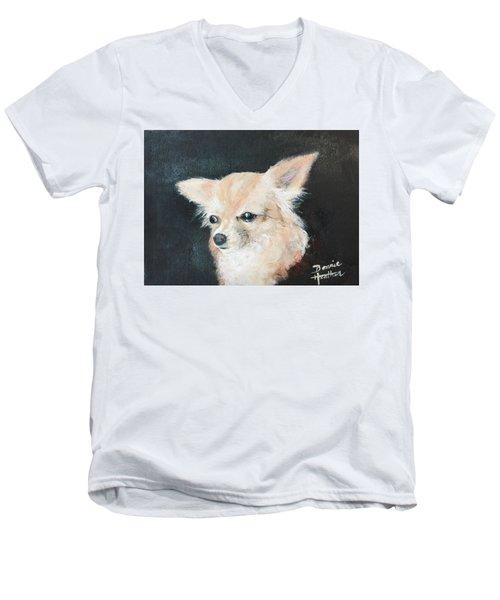 Foxy Lady  Men's V-Neck T-Shirt by Bonnie Heather