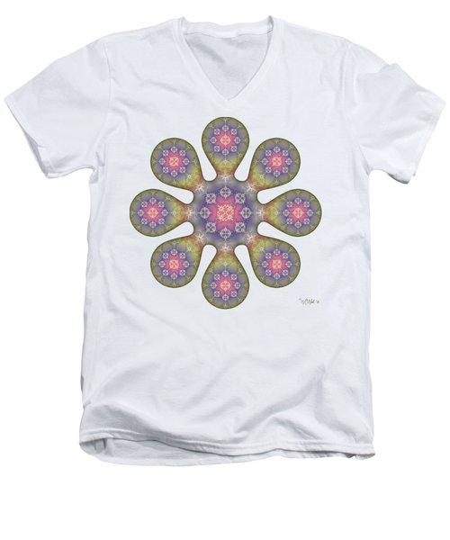 Fractal Blossom 1 Men's V-Neck T-Shirt