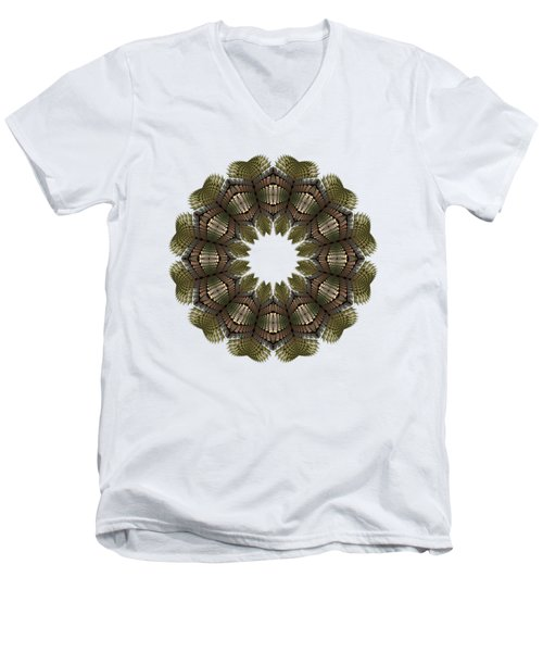 Fractal Wreath-32 Earth T-shirt Men's V-Neck T-Shirt