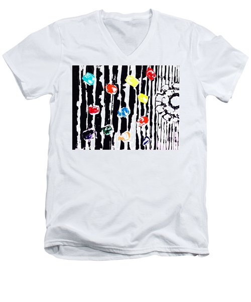 Fractured Light  Men's V-Neck T-Shirt