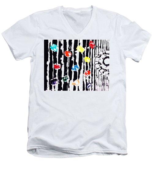Fractured Light  Men's V-Neck T-Shirt