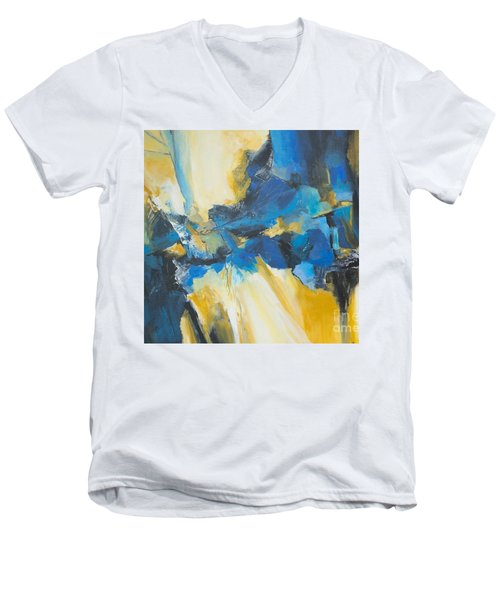 Fragments Of Time Men's V-Neck T-Shirt by Glory Wood