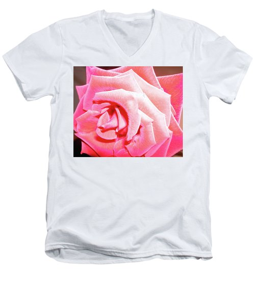 Men's V-Neck T-Shirt featuring the photograph Fragrant Rose by Marie Hicks