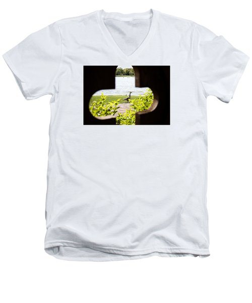 Framed Nature Men's V-Neck T-Shirt by Milena Ilieva