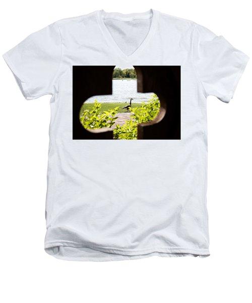 Framed Nature Men's V-Neck T-Shirt