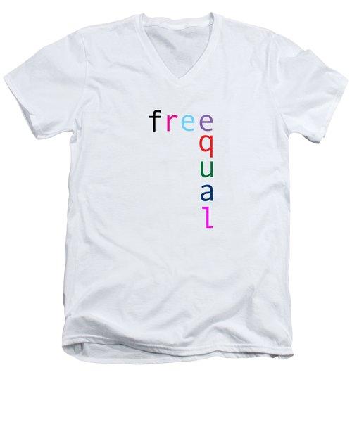 Free Equal Men's V-Neck T-Shirt