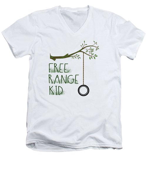 Free Range Kid Men's V-Neck T-Shirt