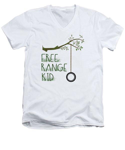 Free Range Kid Men's V-Neck T-Shirt