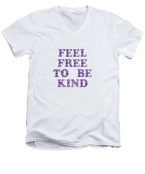 Free To Be Kind Men's V-Neck T-Shirt