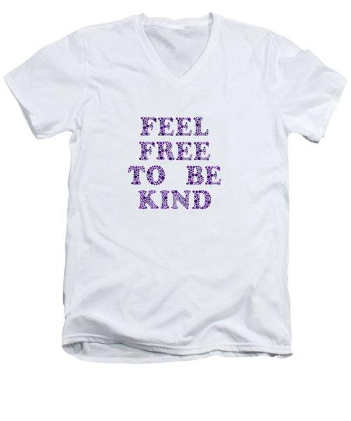 Free To Be Kind Men's V-Neck T-Shirt