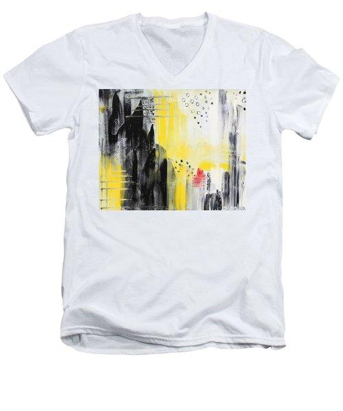 Freedom Men's V-Neck T-Shirt by Sladjana Lazarevic