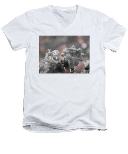 Freesia'a Without Colour Men's V-Neck T-Shirt