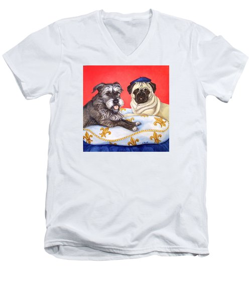 French Friends Men's V-Neck T-Shirt by Laura Aceto