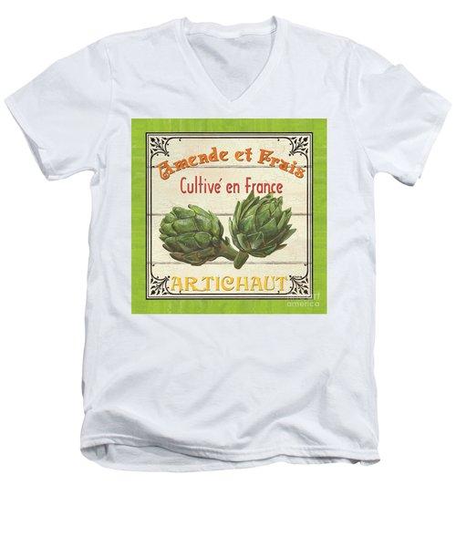 French Vegetable Sign 2 Men's V-Neck T-Shirt by Debbie DeWitt