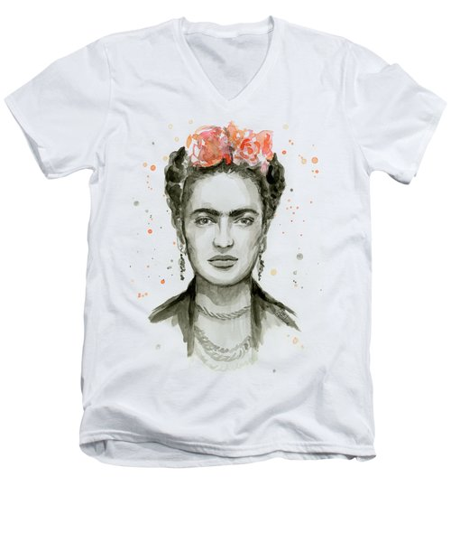 Frida Kahlo Portrait Men's V-Neck T-Shirt