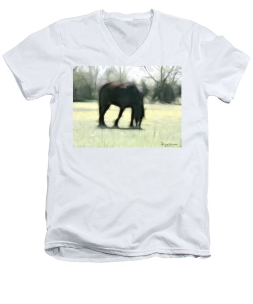Men's V-Neck T-Shirt featuring the photograph Friend Of Distinction  by EricaMaxine  Price