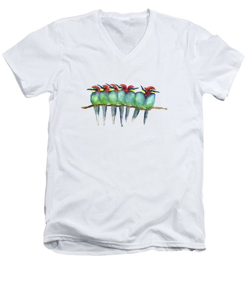 Friends To Lean On Men's V-Neck T-Shirt