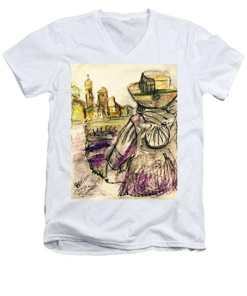 Fromista Espana Men's V-Neck T-Shirt
