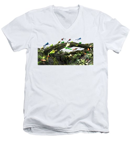 Frog Glen Men's V-Neck T-Shirt by Methune Hively