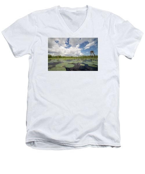 From A Frog's Point Of View - Lake Okeechobee Men's V-Neck T-Shirt