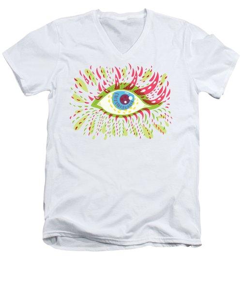 From Looking Psychedelic Eye Men's V-Neck T-Shirt by Boriana Giormova
