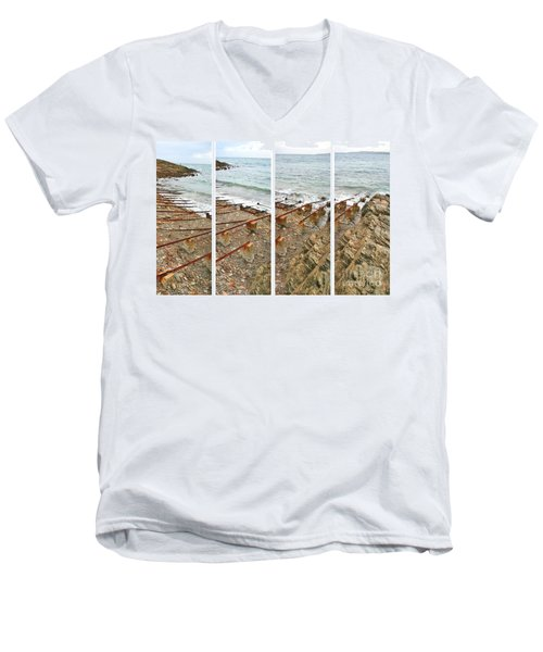 Men's V-Neck T-Shirt featuring the photograph From Ship To Shore by Stephen Mitchell