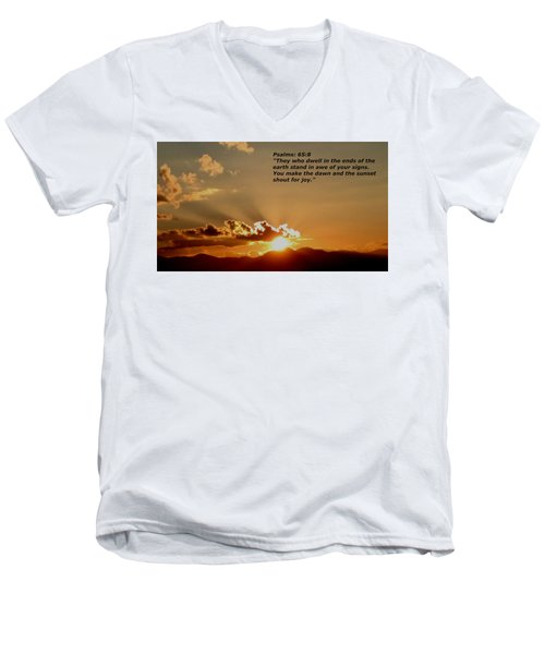 From The East To The West Men's V-Neck T-Shirt