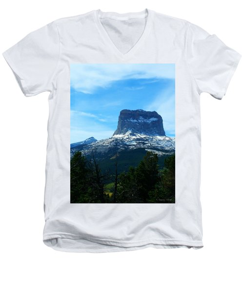 Frosty Chief Mountain Men's V-Neck T-Shirt