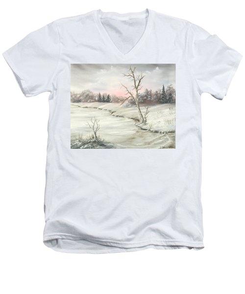 Frosty Winter Morning  Men's V-Neck T-Shirt