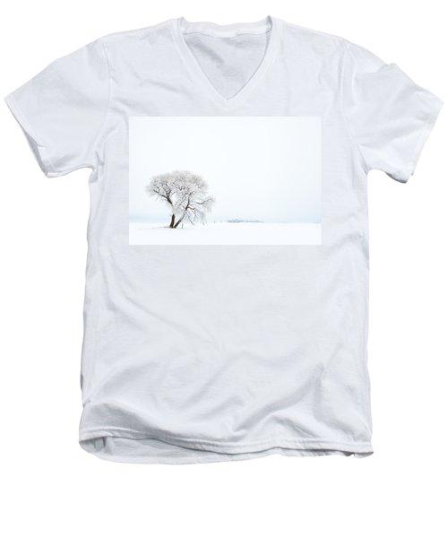 Frozen Morning Men's V-Neck T-Shirt by Yvette Van Teeffelen