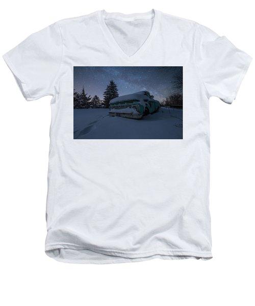 Frozen Rust  Men's V-Neck T-Shirt by Aaron J Groen