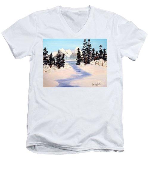 Frozen Tranquility Men's V-Neck T-Shirt