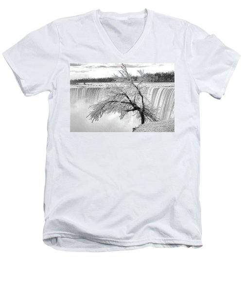 Frozen Tree Near Niagara Falls Men's V-Neck T-Shirt