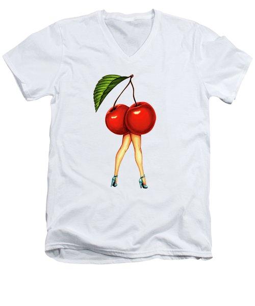 Fruit Stand- Cherry Men's V-Neck T-Shirt