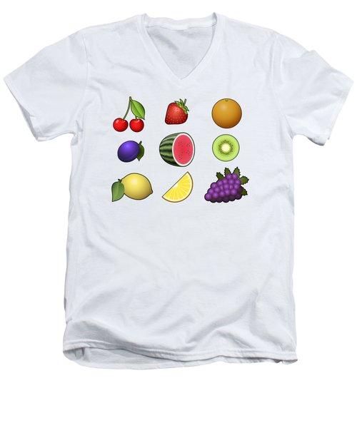 Fruits Collection Men's V-Neck T-Shirt