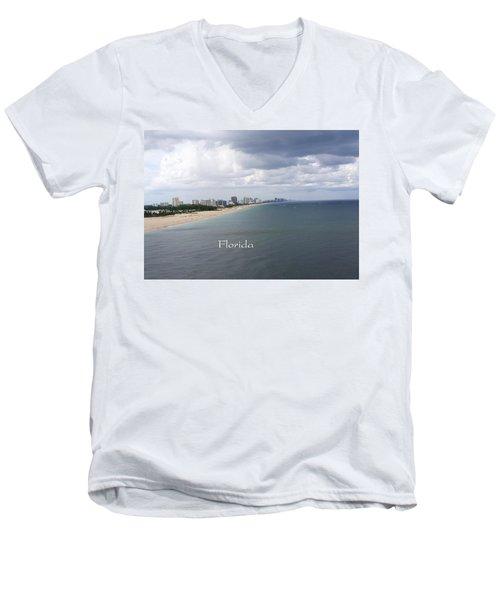 Ft Lauderdale Florida Men's V-Neck T-Shirt