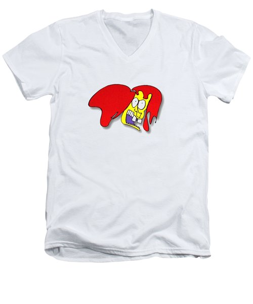 Fu Party People - Peep 002 Men's V-Neck T-Shirt by Dar Freeland