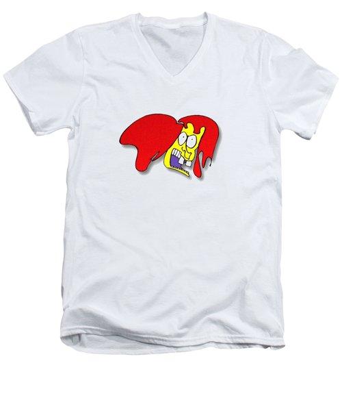 Fu Party People - Peep 002 Men's V-Neck T-Shirt
