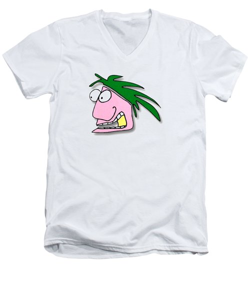 Fu Party People - Peep 114 Men's V-Neck T-Shirt by Dar Freeland