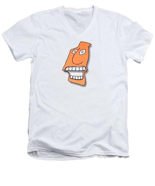 Fu Party People - Peep 127 Men's V-Neck T-Shirt by Dar Freeland