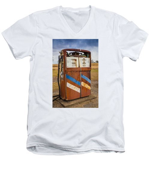 Men's V-Neck T-Shirt featuring the photograph Fuel Pump by Keith Hawley