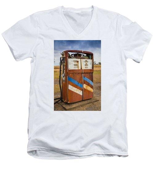 Fuel Pump Men's V-Neck T-Shirt by Keith Hawley