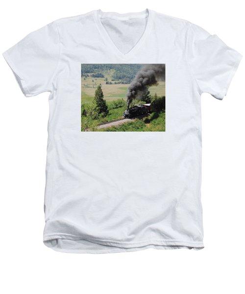 Full Steam Ahead Men's V-Neck T-Shirt