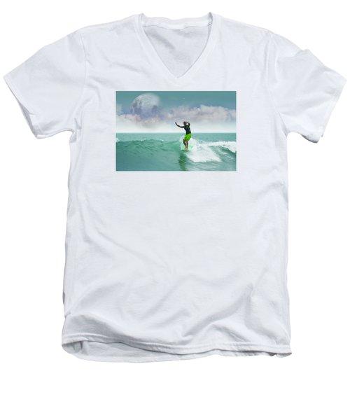 Funday Sunday Men's V-Neck T-Shirt by William Love