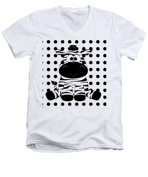 Funny Zebra Men's V-Neck T-Shirt