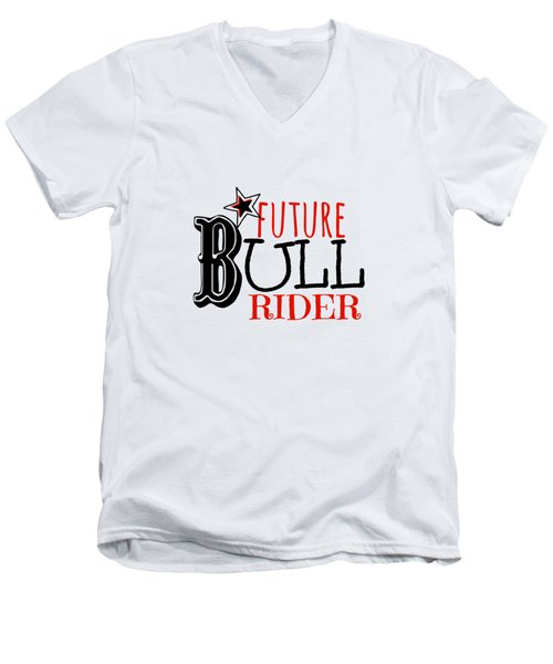 Future Bull Rider Men's V-Neck T-Shirt by Chastity Hoff