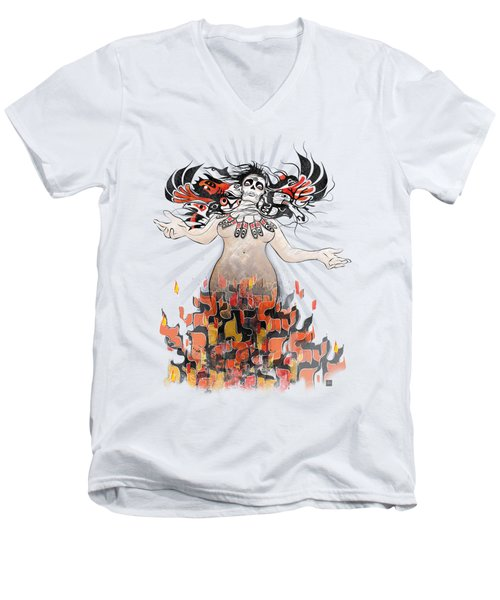 Gaia In Turmoil Men's V-Neck T-Shirt